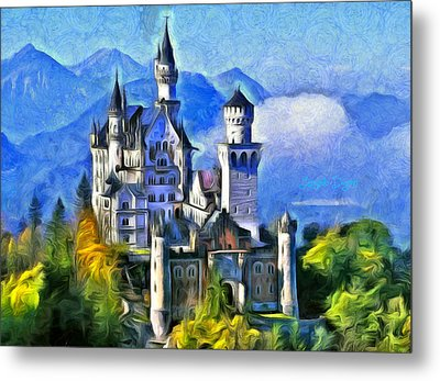 Bavaria's Neuschwanstein Castle - Da Metal Print by Leonardo Digenio