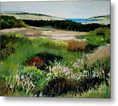 Metal Print featuring the painting Bay Meadow by Diane Ursin