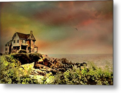 Bayberry Cove Cottage Metal Print by Diana Angstadt