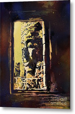 Metal Print featuring the painting Bayon IIi- Cambodian Ruins, Angkor Wat by Ryan Fox