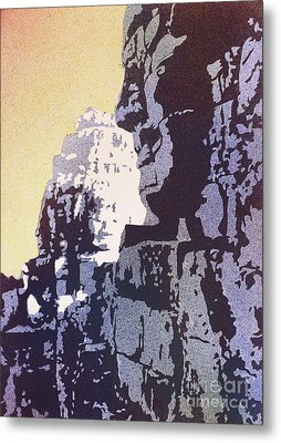 Metal Print featuring the painting Bayon Temple- Angkor Wat, Cambodia by Ryan Fox