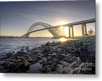Bayonne Bridge Sunset Metal Print