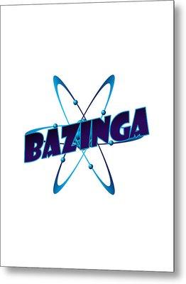 Bazinga - Big Bang Theory Metal Print by Bleed Art