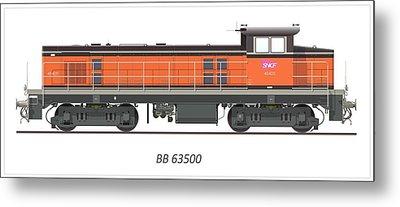 Bb 63500 Locomotive Metal Print