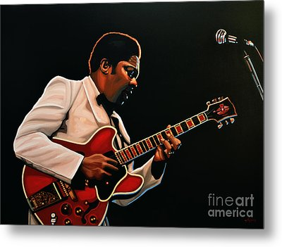B. B. King Metal Print by Paul Meijering