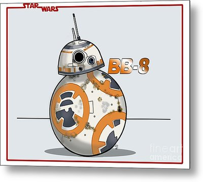bb8 Metal Print by Chris DelVecchio