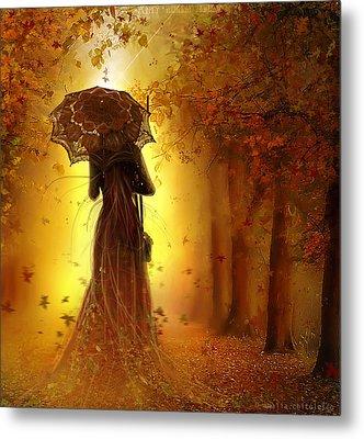 Be My Autumn Metal Print by Amalia Iuliana Chitulescu