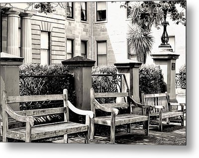 Be Seated Metal Print by Wallaroo Images