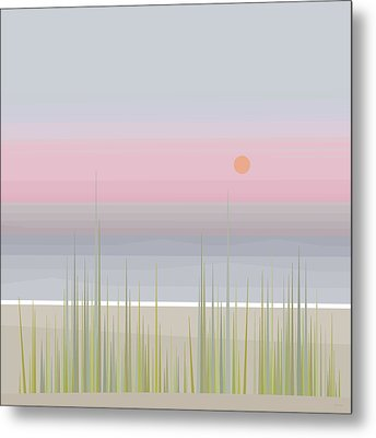 Beach Abstract - Square Metal Print by Val Arie