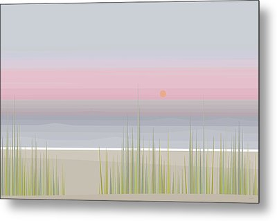 Beach Abstract Metal Print by Val Arie
