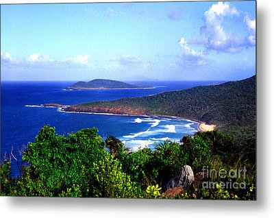 Beach And Cayo Norte From Mount Resaca Metal Print by Thomas R Fletcher