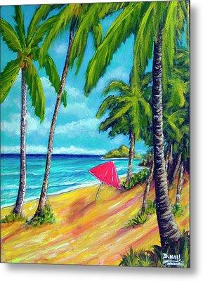 Beach And Mokulua Islands  #368 Metal Print by Donald k Hall