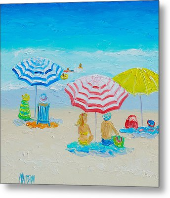 Beach Art - Balmy Summers Day Metal Print by Jan Matson