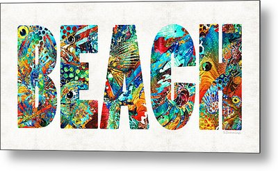 Beach Art - Beachy Keen - By Sharon Cummings Metal Print