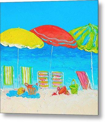Beach Art - Summer Days Are Here Again Metal Print