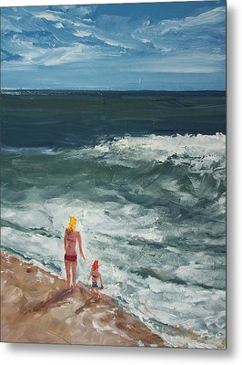 Beach Babes II Metal Print by Pete Maier