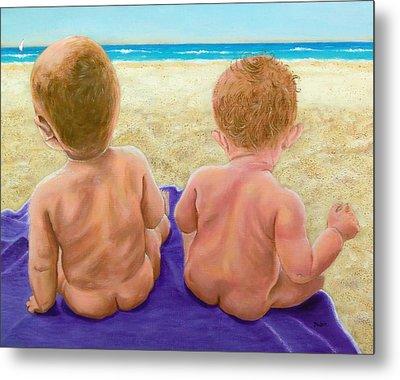 Beach Babies Metal Print
