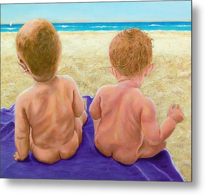 Beach Babies Metal Print by Susan DeLain
