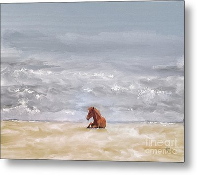 Metal Print featuring the photograph Beach Baby by Lois Bryan