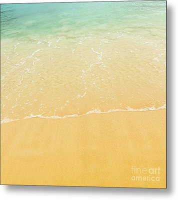 Beach Background Metal Print by Tim Hester