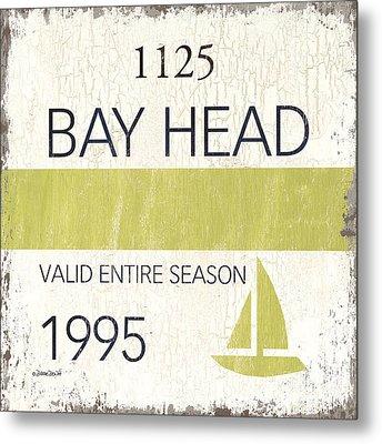 Beach Badge Bay Head Metal Print by Debbie DeWitt