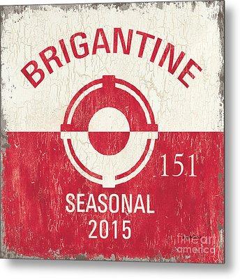 Beach Badge Brigantine Metal Print