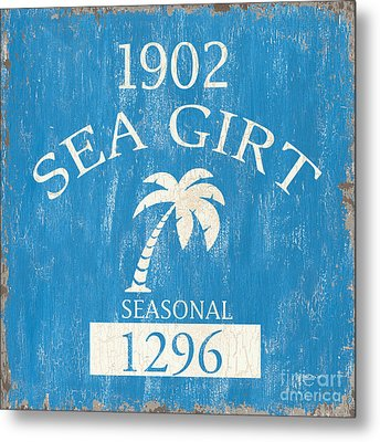 Beach Badge Sea Girt Metal Print