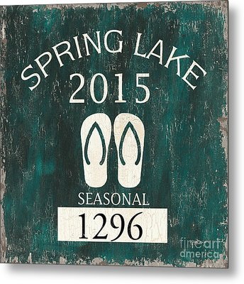 Beach Badge Spring Lake Metal Print