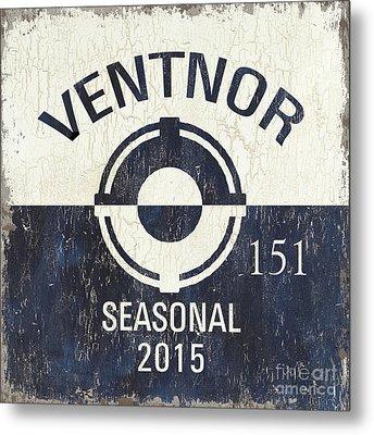 Beach Badge Ventnor Metal Print