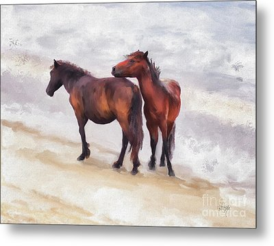 Metal Print featuring the photograph Beach Buddies by Lois Bryan