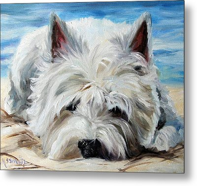 Beach Bum Metal Print by Mary Sparrow