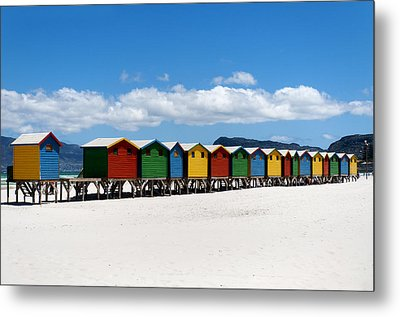 Beach Cabins  Metal Print