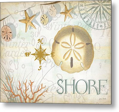 Beach Collage D Metal Print by Grace Pullen