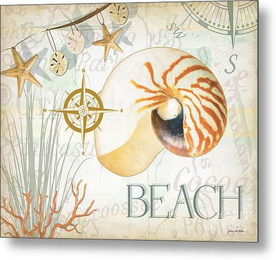 Beach Collage Metal Print by Grace Pullen