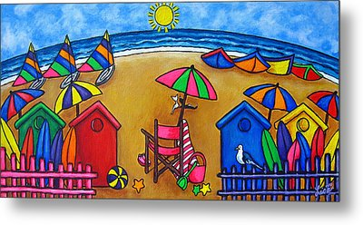 Beach Colours Metal Print by Lisa  Lorenz