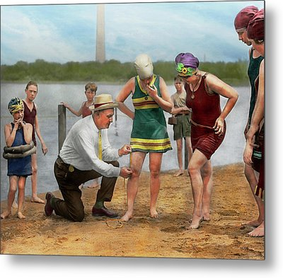 Beach - Cop A Feel 1922 Metal Print