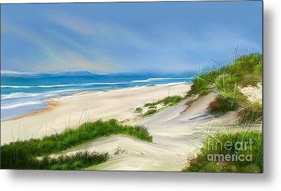 Beach Day Metal Print by Anthony Fishburne