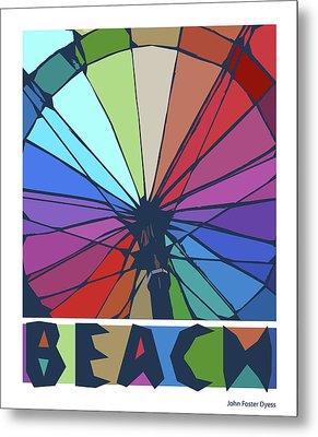 Beach Design By John Foster Dyess Metal Print