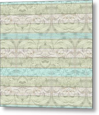 Beach Driftwood Wood Swirl Striped Pattern Metal Print by Audrey Jeanne Roberts