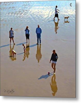 Beach Family Metal Print by Patricia Stalter