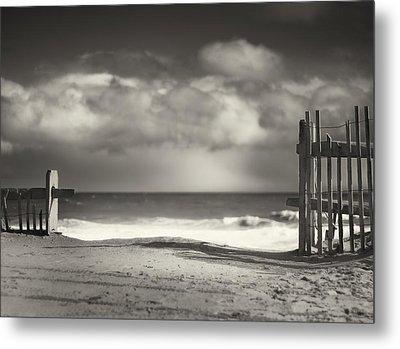 Beach Fence - Wellfleet Cape Cod Metal Print