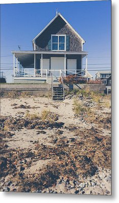 Beach Front Cottage Metal Print