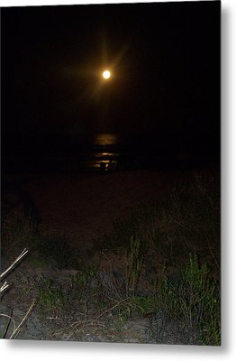 Beach Full Moon Metal Print by Patricia Taylor