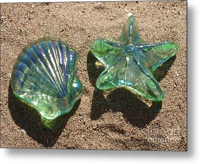 Metal Print featuring the photograph Beach Glass by Cindy Lee Longhini