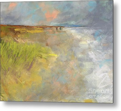 Metal Print featuring the painting Beach Grasses by Frances Marino