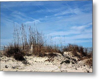 Beach Grasses On The Dunes Metal Print by Rosanne Jordan
