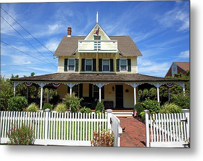 Metal Print featuring the photograph Beach Haven Architecture by John Rizzuto