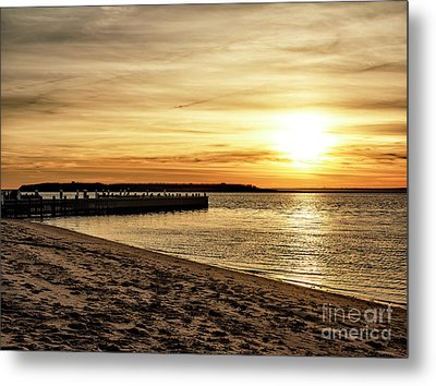 Beach Haven Sunset Metal Print by John Rizzuto