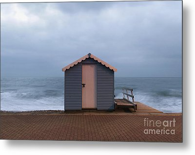 Beach Hut Metal Print