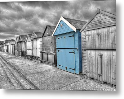 Beach Hut In Isolation Metal Print